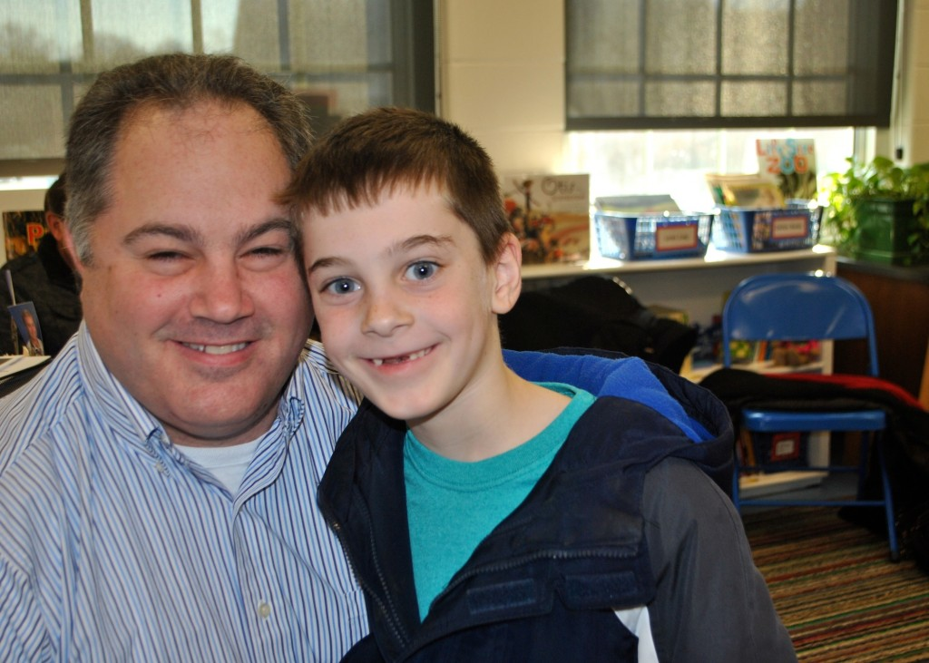 Colton Beck (1st grade,  Fairfax, Mariemont Elementary) loves spending time with his dad, Brian Beck.