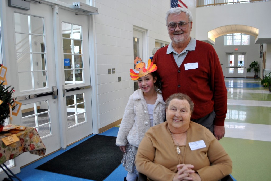 Terrace Park Elementary 1st grade student Ava Carlier with her special grandparent visitors, Mike and Janet Carlier from Owensville.